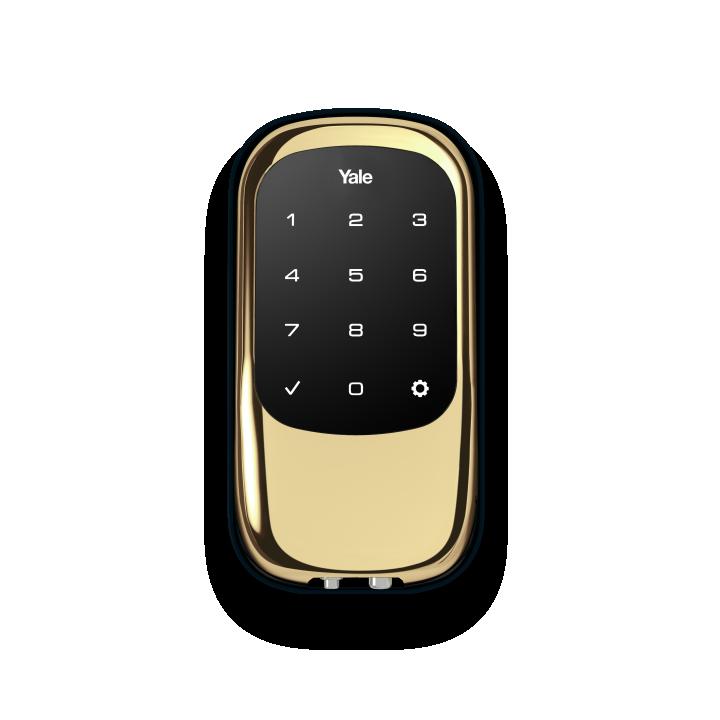 YRD120ZW-605 Yale 84392 Touchscreen Z-Wave- Key Free Deadbolt Bright Brass-PVD