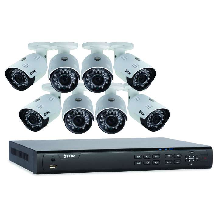 DN4083B84 FLIR 8 Ch NVR with 8 POE, 240fps@1080p, 3TB HDD with 8x mini bullet 4.0MP, 3.6mm, Cloud connectivity ************************* SPECIAL ORDER ITEM NO RETURNS OR SUBJECT TO RESTOCK FEE *************************
