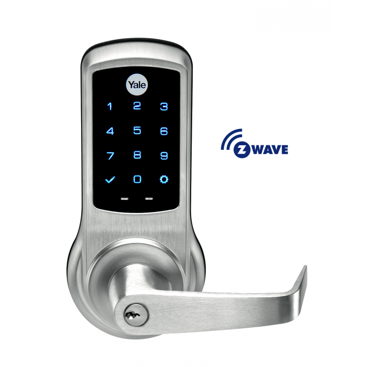 NTB620-ZW2-626 YALE nexTouch ZW TS Keyed 626 AU Lever satin chrome ************************** CLEARANCE ITEM- NO RETURNS *****ALL SALES FINAL****** **************************