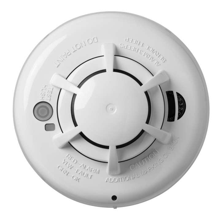 DSCWS4936 DSC Wireless photoelectric smoke detector with dual sensor heat detector