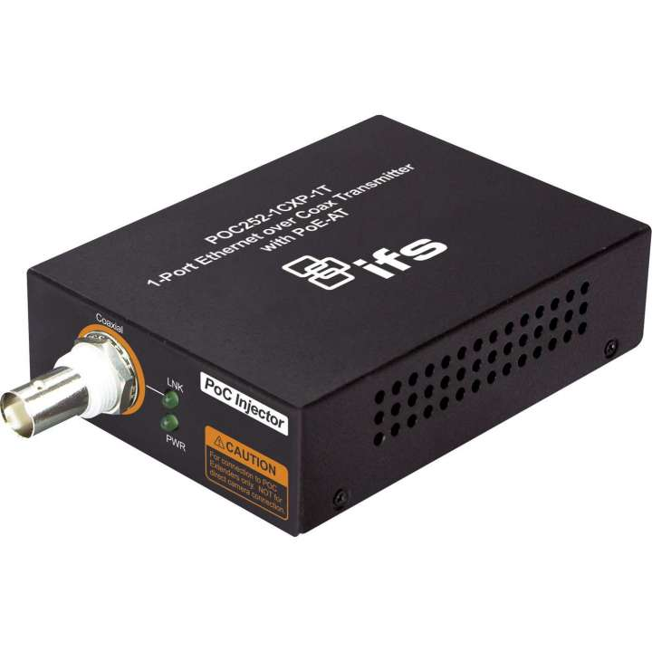POC252-1CXP-1T INTERLOGIX IP POWER OVER COAX (HEAD END) MEDIA CONVERTOR, INJECTS POWER OVER COAX ************************* SPECIAL ORDER ITEM NO RETURNS OR SUBJECT TO RESTOCK FEE *************************