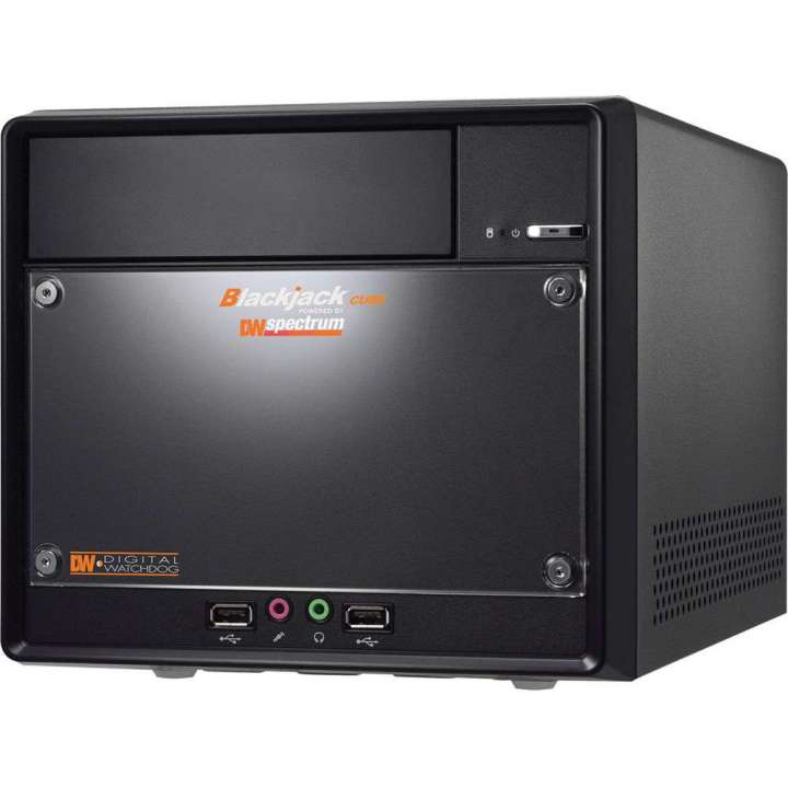 DW-BJCUBE9T DIGITAL WATCHDOG BLACKJACK CUBE NVR POWERED BY DW SPECTRUM IPVMS. 4 CAMERA LICENSES PRE-INSTALLED EXPANDABLE TO 32 CAMERAS. DVI-D/HDMI, LINUS/WINDOWS 7, 9TB HDD, 5 YEAR LIMITED WARRANTY