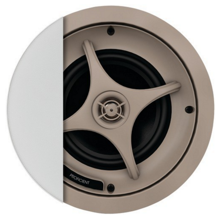 "C635 PROFICIENT Ceiling speaker with 6 1/2"" aluminum woofer and 1""; pivoting titanium dome tweater ************************* SPECIAL ORDER ITEM NO RETURNS OR SUBJECT TO RESTOCK FEE *************************"