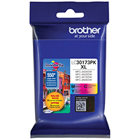 BRT-LC30173PK BROTHER HIGH YIELD 3 COLOR INK CARTRIDGE PACK FOR MFC- J5330DW/MFC-J6530DW/MFC-J6930DW