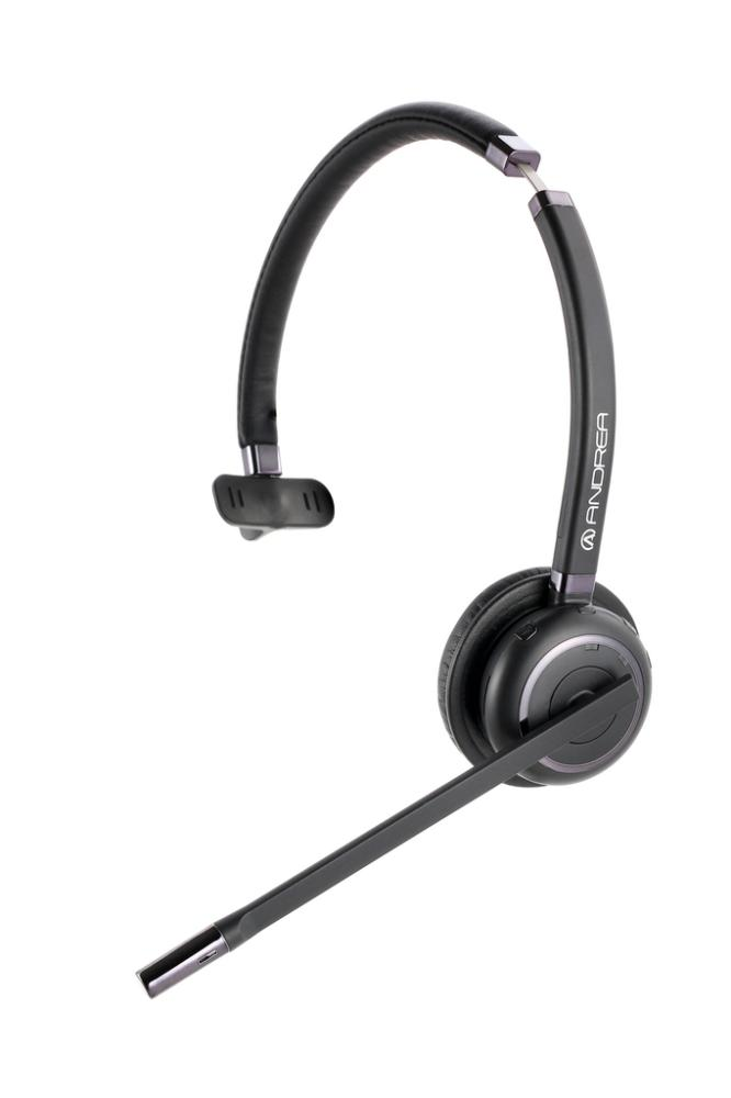 AND-C1-1030600-1 ANDREA WNC2100 ON EAR N/C WIRELESS BLUETOOTH MONO HEADSET FOR USE W/ MOBILE PHONES, COMPUTERS & TABLETS