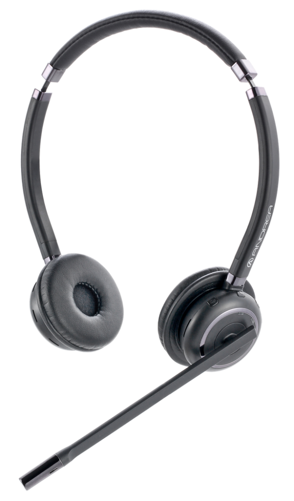 AND-C1-1030900-1 ANDREA WNC2500 ON EAR N/C WIRELESS BLUETOOTH STEREO HEADSET FOR USE W/ MOBILE PHONES, COMPUTERS & TABLETS