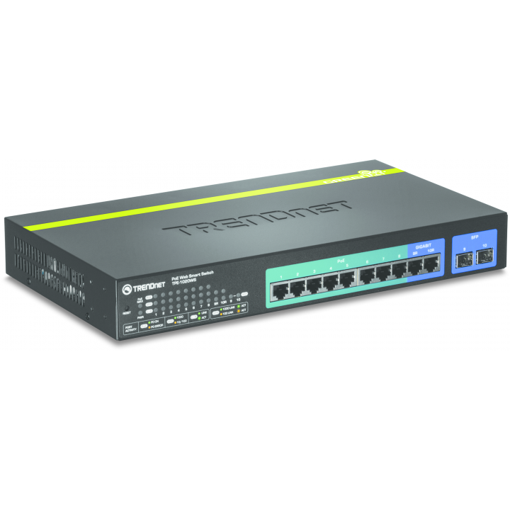 TPE-1020WS TRENDNET 10-port Gigabit Websmart PoE+ Switch /w 2 Mini-GBIC slots (8 PoE, 2 SFP) ************************* SPECIAL ORDER ITEM NO RETURNS OR SUBJECT TO RESTOCK FEE *************************