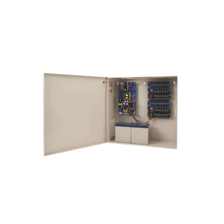 AQD6-8C1R SECURITRON Supervised Power Supply 12/24VDC 6Amps w/ Chgr - 8 PTC Out - FT