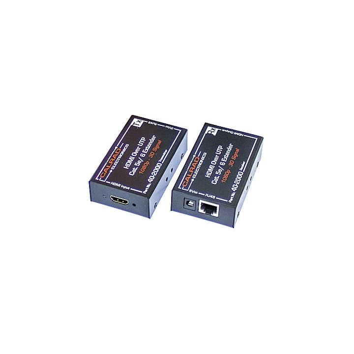 40-2000 CALRAD HDMI BALUN ON A SINGLE CAT5e/6 CABLE, CABLE DISTANCE: CAT5e 1080P 110FT, CAT6 1080P 150FT