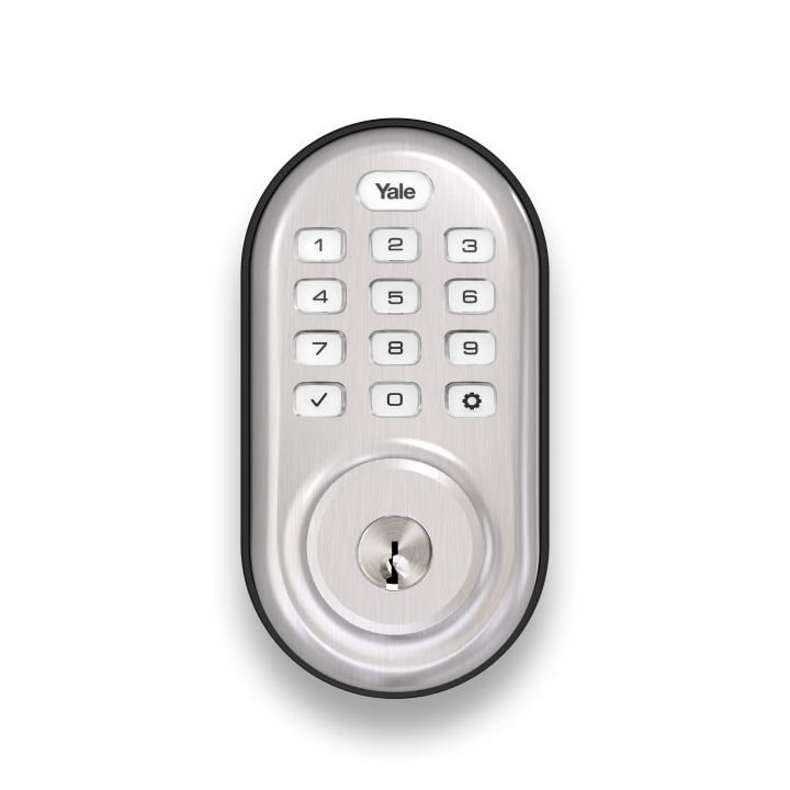 YRD216ZW2-619 Yale 84528 Push button Z-Wave-Deadbolt Satin Nickel