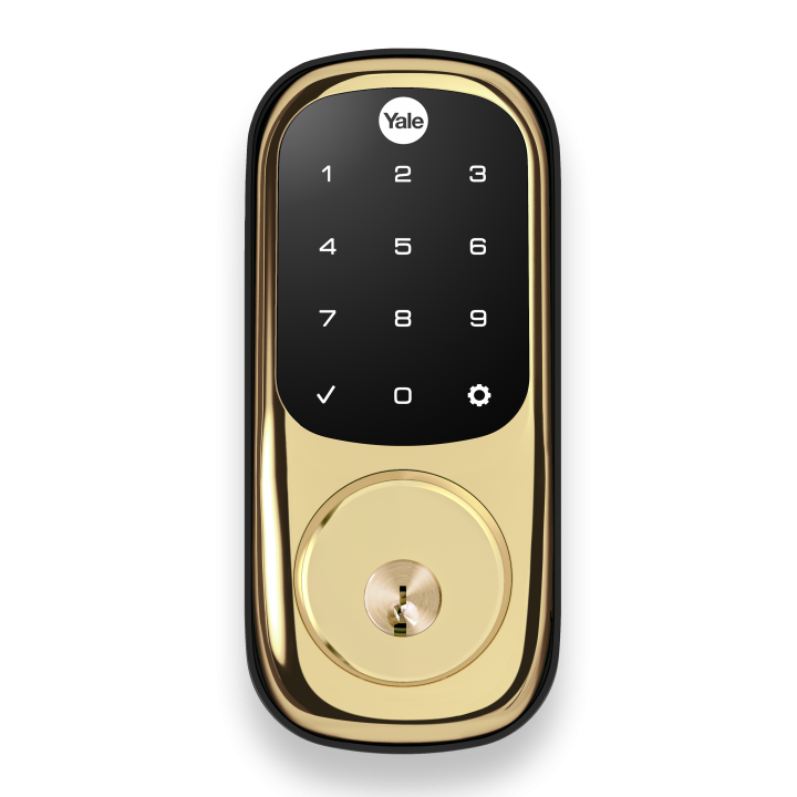 YRD226-ZW2-605 Yale 84532 Touchscreen Z-Wave-Deadbolt Bright Brass-PVD