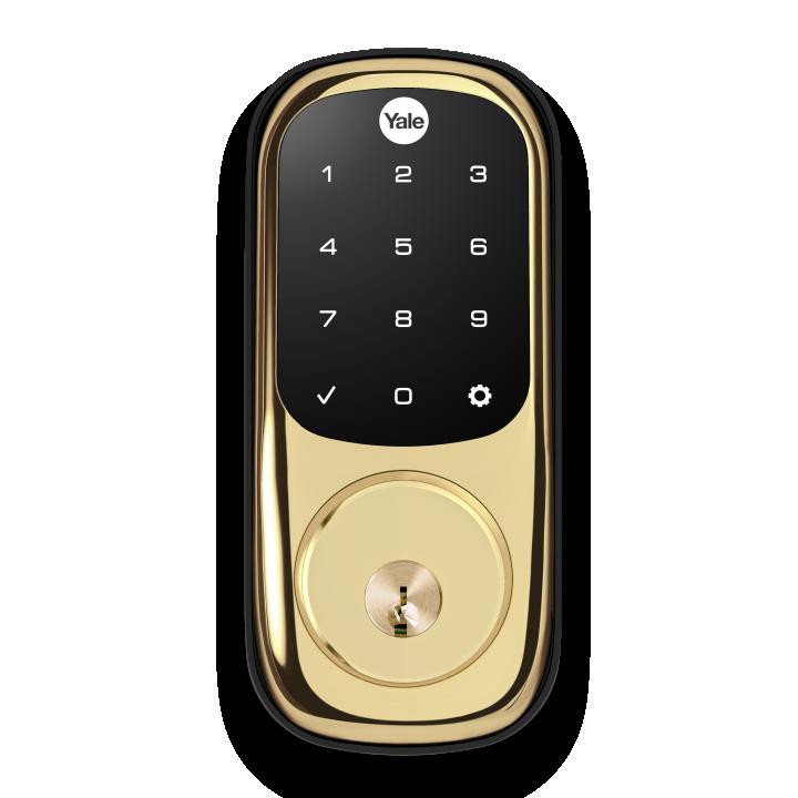 YRD226-ZW2-605 Yale 84532 Touchscreen Z-Wave-Deadbolt Bright Brass-PVD