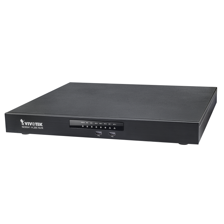 ND9541P VIVOTEK 32CH NVR WITH 16 POE INPUTS NO DRIVES MAX STORAGE 32TB