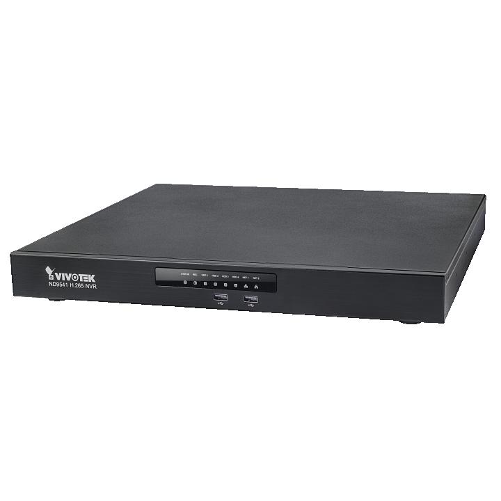 ND9541P VIVOTEK 32CH NVR WITH 16 POE INPUTS NO DRIVES MAX STORAGE 32TB