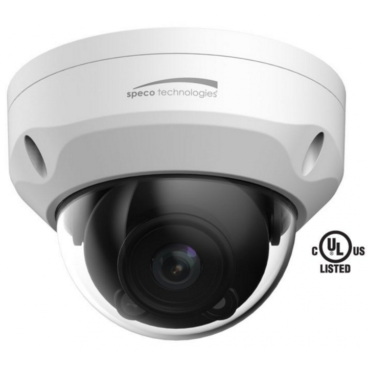 O3VFDM SPECO IND/OUTDOOR IP DOME 2.7-12MM MOTORIZED LENS, WHITE HOUSING (JUNCTION BOX INCLUDED)