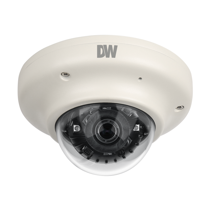 DWC-V7753WTIR DIGITAL WATCHDOG STAR LIGHT AHD SERIES MINI FLAT DOME, 2.1MP 1920X1080, 3.6MM LENS, DOUBLE SHUTTER WDR, TRUE D/N, 50FT SMART IR, 12VDC, IP66