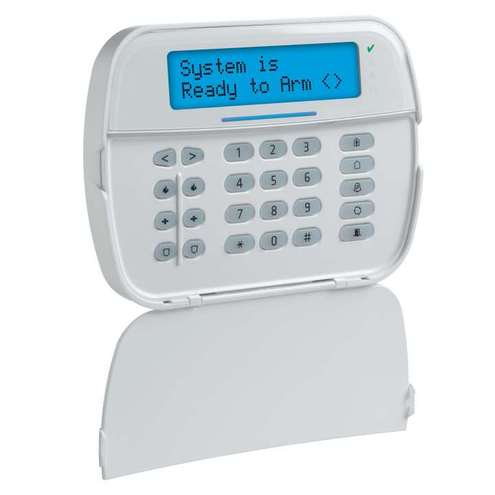 DSCHS2LCDRF9ENG DSC NEO Full Message LCD Hardwired Keypad with English function keys and Built-in PowerG Transceiver. Compatible with HS2016, HS2032, HS2064 and HS21218 control panels.