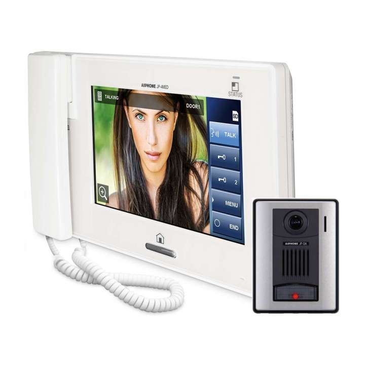 "JPS-4AED AIPHONE 7"" TOUCHSCREEN HANDSET / HANDSFREE 4X8 COLOR VIDEO INTERCOM KIT - INCLUDES JP-DA JP-4MED PS2420UL"