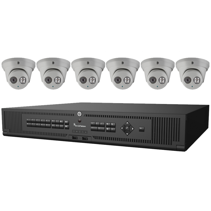 PROMOILXTRUVISIONBUNDLE1 INTERLOGIX TRUVISION BUNDLE TO INCLUDE (1)TVN-2216S-4T AND (6)TVT-5301 Cameras for FREE PROMO DATES May 1, 2017 through June 30, 2017 TVT-5301 out of stock at UTC and will be replaced with TVT-5302 white housing