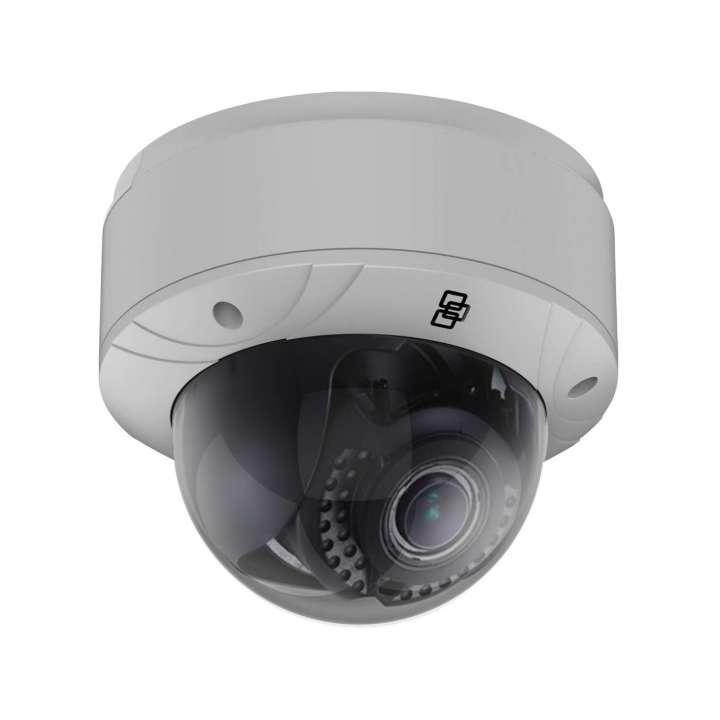 TVD-5403 INTERLOGIX TRUVISION IP MINI DOME CAMERA, H.265/H.264, 5.0MPX , 2.8~12MM MOTORVF LENS, DWDR, TRUE D/N, 30M IR, AUDIO, ALARM, BNC, MICRO SD/SHDC SLOT, INTELLIGENCE, POE (802.3-AT) /12VDC, INDOOR, IK10