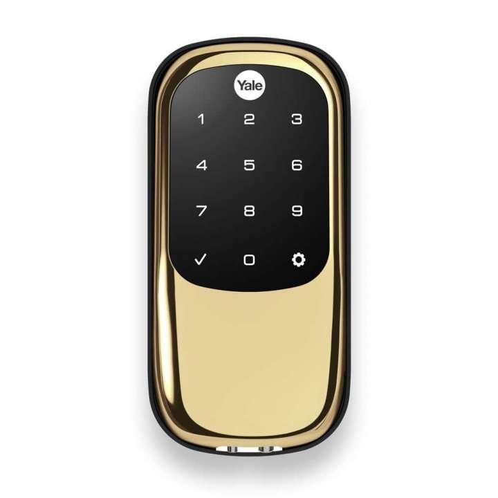 YRD246-ZW-605 Yale 84535 Touchscreen Z-Wave- Key Free Deadbolt Bright Brass-PVD