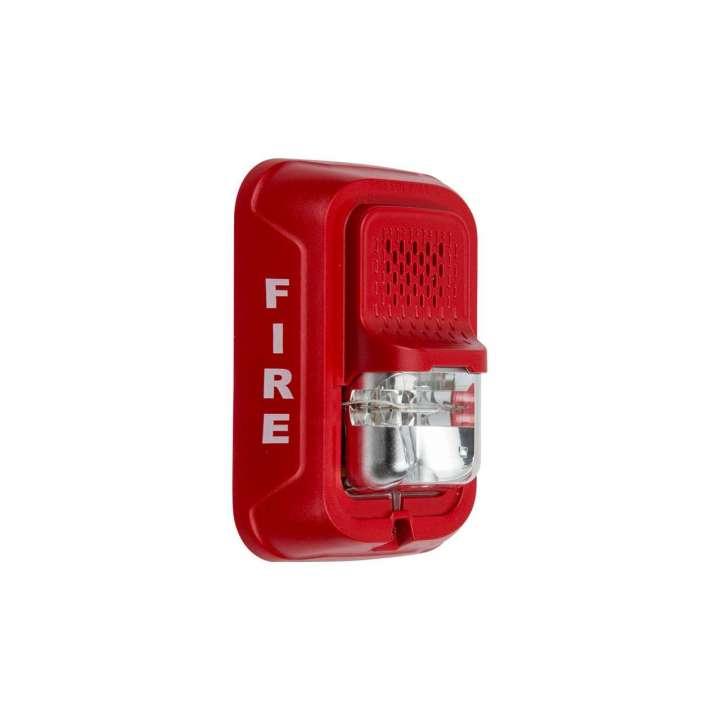 P2RL SYSTEM SENSOR HORN STROBE 2W RED WALL