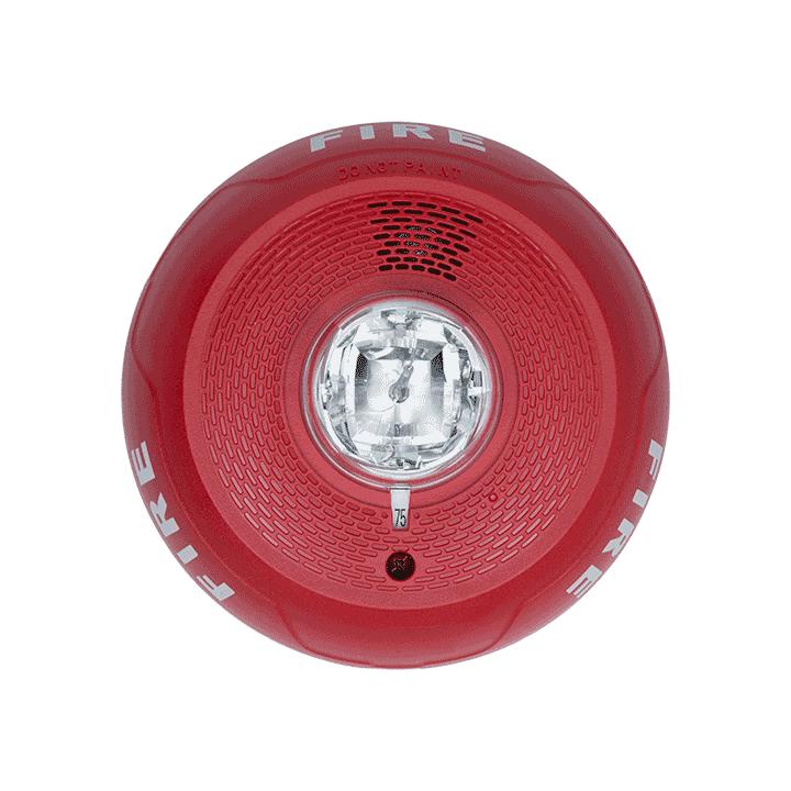 PC2RL SYSTEM SENSOR HORN STROBE 2W RED CEILING