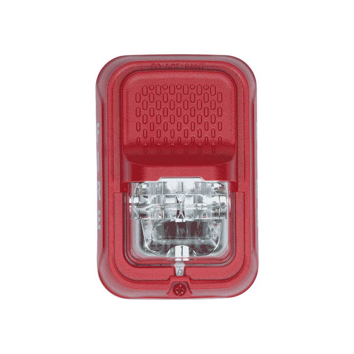 SGRL SYSTEM SENSOR STROBE RED WALL, COMPACT