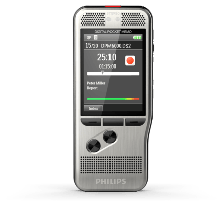 PSP-DPM6000/01 PHILIPS DPM6000 RECORDER W/PUSH BUTTON RECORDING CONTROL, WIN COMPATIBLE, DPM CONNECT FOR MAC DOWNLOAD & TRANSFER ONLY