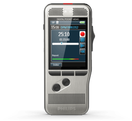 PSP-DPM7000/01 PHILIPS DPM7000 RECORDER W/SLIDE SWITCH, WIN COMPATIBLE, DPM CONNECT FOR MAC DOWNLOAD & TRANSFER ONLY