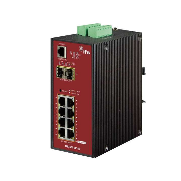 NS3552-8P-2S UTC 8-Port Gigabit Ethernet POE-AT Industrial Managed Switch With 2 Gigabit SFP Ports (150W POE Budget) ************************* SPECIAL ORDER ITEM NO RETURNS OR SUBJECT TO RESTOCK FEE *************************