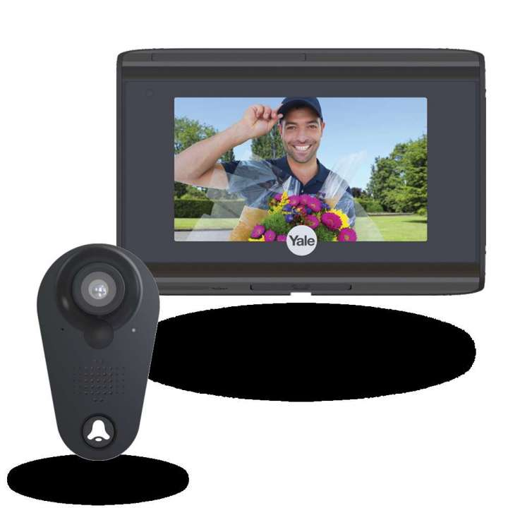 YRV740WI-693 YALE WiFI Digital Door Viewer Black 084193I