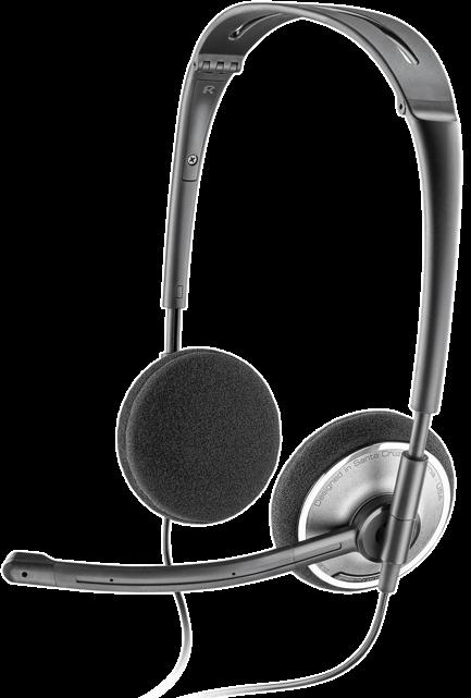 PLN-81962-21 PLANTRONICS AUDIO478 FOLDABLE STEREO DSP HEADSET SKYPE CERTIFIED