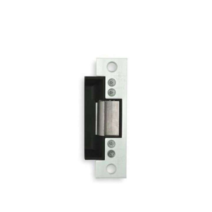 "7140-510-628-00 ADAMS RITE 24VDC FAIL SECURE ELECTRIC DOOR RELEASE - BRUSHED ALUM. FINISH - 4 7/8"" ANSI SQUARE CORNER FACE PLATE FOR STEEL FRAME DOORS"