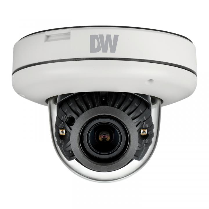 DWC-MV85DiA DIGITAL WATCHDOGMEGApix Vandal Dome Camera, 5 Megapixel 1/1.8 CMOS Sensor (2592x1944 @ 30fps), 3.6-10mm Autofocus Varifocal P-Iris Lens, 100ft Smart IR, D-WDR, 3D-DNR, True D&N, Dual Codecs (H.264, MJPEG) with Simultaneous Streaming, 2.7X Optical Zoom, PoE + DC12V, OnVIF Compliant,, IP66, CleanView, 5 Year Warranty. ************************* SPECIAL ORDER ITEM NO RETURNS OR SUBJECT TO RESTOCK FEE *************************