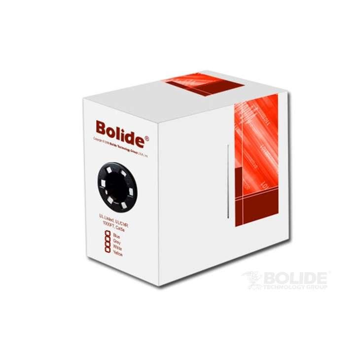 BP0033/CAT5E/CMPBLUE BOLIDE 1000FT. UL LISTED CAT5E CMP COPPER, PVC , BLUE