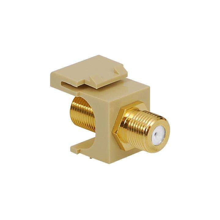 IC107B5GIV ICC F CONN COUPLER FEMALE TO FEMALE GOLD PLATED IVORY