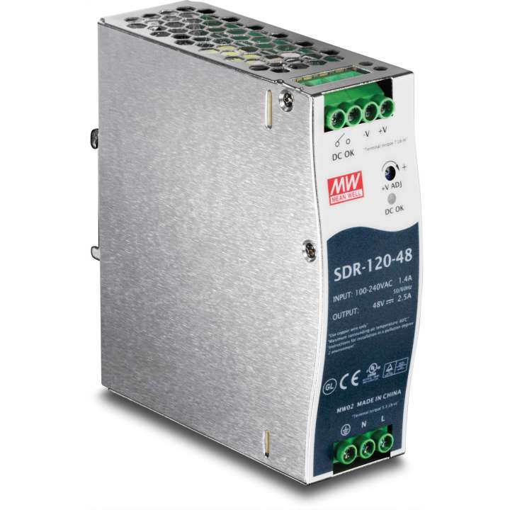TI-S12048 TRENDNET DIN Rail 48V 120W Power Supply for TI-PG541