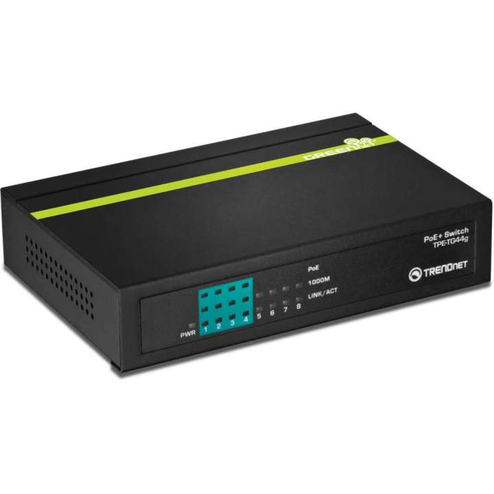 TPE-TG44g TRENDNET 8-port GREENnet Gigabit PoE+ Switch (4 PoE+, 4 Non-PoE) ************************* SPECIAL ORDER ITEM NO RETURNS OR SUBJECT TO RESTOCK FEE *************************