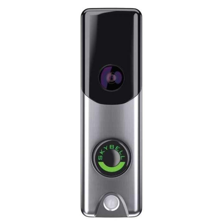 ADC-VDB105 ALARM.COM SKYBELL SLIM LINE DOORBELL CAMERA (SATIN NICKEL) 720P