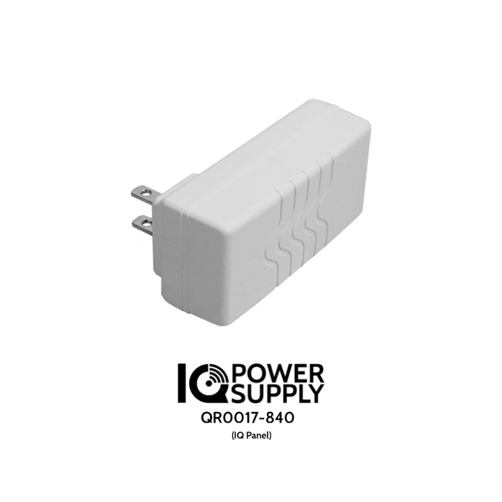QR0017-840 QOLSYS IQ Power Supply - Replacement AC Adapter/Transformer (12v DC) for the IQ Panel.