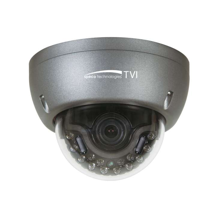 HT5940T SPECO Intense IR HD-TVI 1080p 2MP Indoor/Outdoor Dome Camera, 2.8-12mm Lens, Dark Grey Housing ************************* SPECIAL ORDER ITEM NO RETURNS OR SUBJECT TO RESTOCK FEE *************************