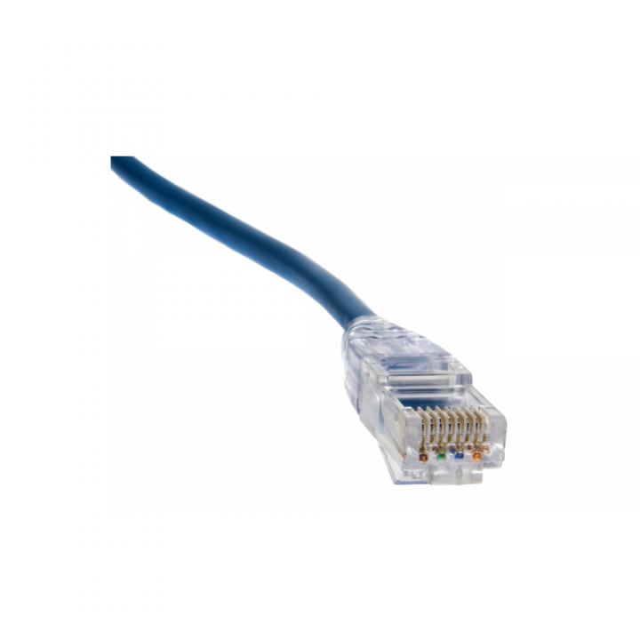 106167C PLATINUM RJ45 (8P8C) Cat5e HP, Round-Solid 3-Prong. 25/Clamshell.