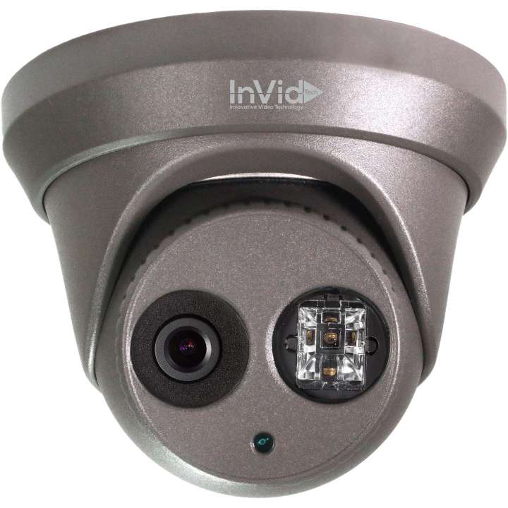 ULT-C2TXIR28B INVID 2MP TVI Outdoor Turret, 2.8 fixed, WDR, 100' EXIR Range, 12VDC- BLACK