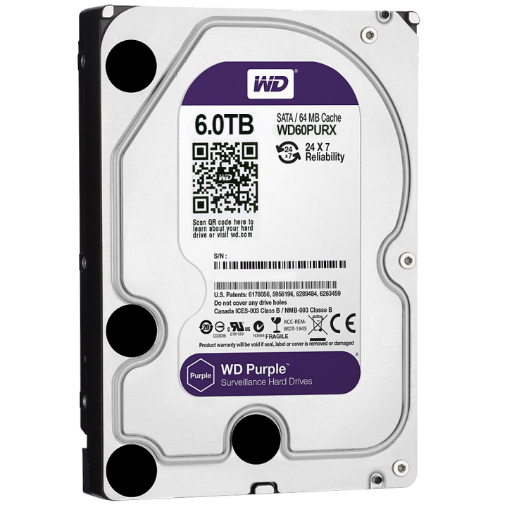 WD60PURZ WESTERN DIGITAL 6TB HARD DRIVE PURPLE USA