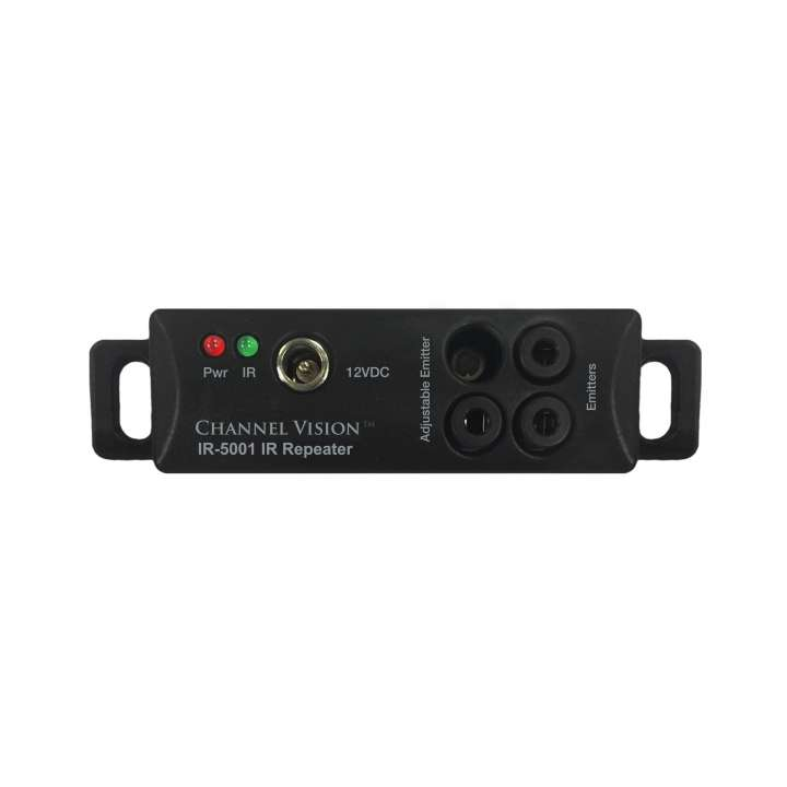 IR-5001 CHANNELVISION U-Verse ready, All-in-one IR system, plasma-proof IR-receiver with built-in IR hub. Includes power supply, 2 IR-3002 emitters and versatile mounting accessories for multiple applications.