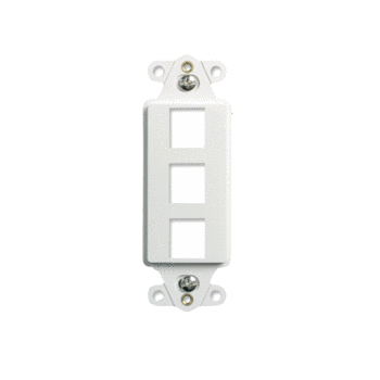 WP3413-WH ON-Q DECORATOR STRAP 3 PORT WHITE ************************** CLEARANCE ITEM- NO RETURNS *****ALL SALES FINAL****** **************************