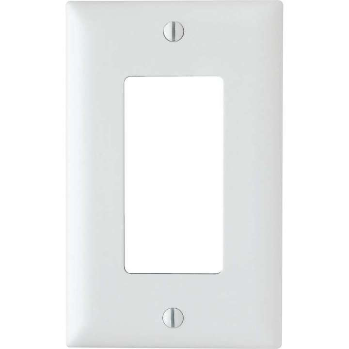 TP26W ON-Q 1 Gang Decorator Wall Plate, White ************************* SPECIAL ORDER ITEM NO RETURNS OR SUBJECT TO RESTOCK FEE *************************