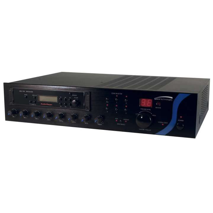 PBM240A SPECO 240W PA Mixer Amplifier with Module Bay ************************* SPECIAL ORDER ITEM NO RETURNS OR SUBJECT TO RESTOCK FEE *************************