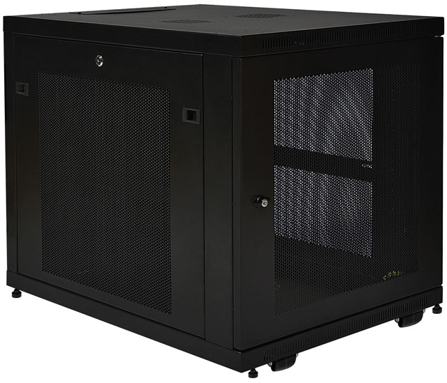 "SR12UB TRIPP-LITE SmartRack 12U Mid-Depth Rack Enclosure Cabinet, 33"" DEPTH, Casters and leveling feet ************************* SPECIAL ORDER ITEM NO RETURNS OR SUBJECT TO RESTOCK FEE *************************"